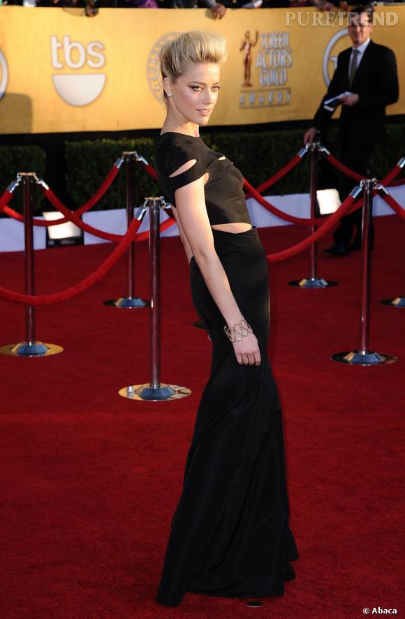 Amber Heard lors des Screen Actors Guild Awards 2012 à Los Angeles.