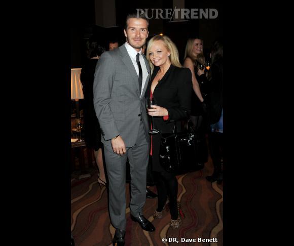 David Beckham et Emma Bunton au cocktail David Beckham Bodywear pour H&M.