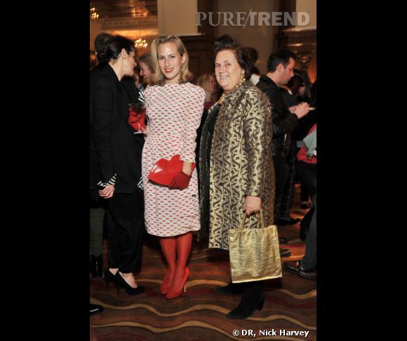 Charlotte Dellal et Suzy Menkès au cocktail David Beckham Bodywear pour H&M.