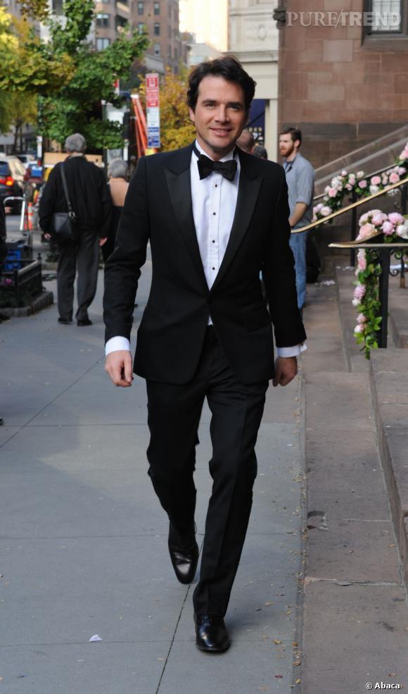 """Matthew Settle sur le tournage de la saison 5 de """"Gossip Girl"""" à New York."""