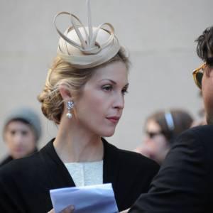 """Kelly Rutherford sur le tournage de la saison 5 de """"Gossip Girl"""" à New York."""