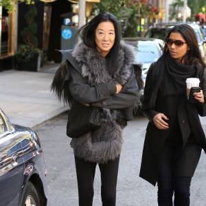 """Vera Wang sur le tournage de la saison 5 de """"Gossip Girl"""" à New York."""