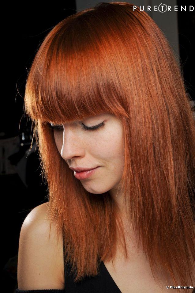 coiffure frange devant