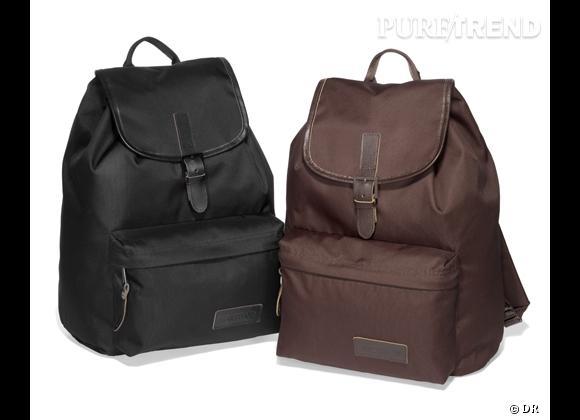 La tendance sac à dos : le bon shopping     Sac à dos Eastpack ligne Get Smart, 87 €