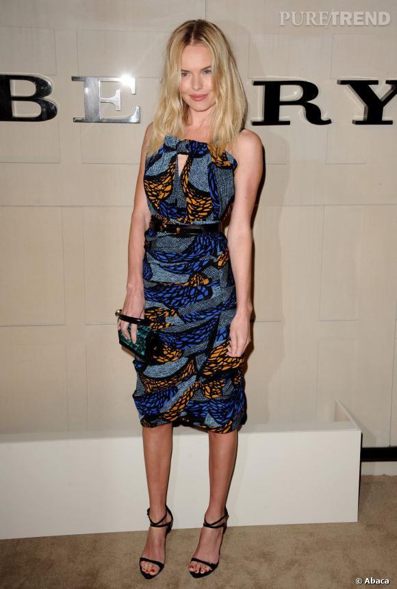 Le wax adopté par les stars    Kate Bosworth en Burberry Prorsum