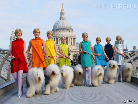 Les mannequins de Dulux défilent à Londres.