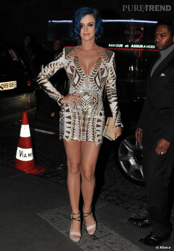 Choisit Robe Printemps Katy Une Eté Perry Balmain Collection 2012 Y76Ibyvmfg