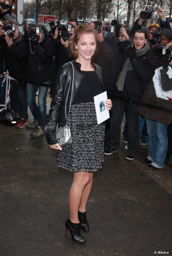 Melissa Theuriau, la surprise du show Chanel.
