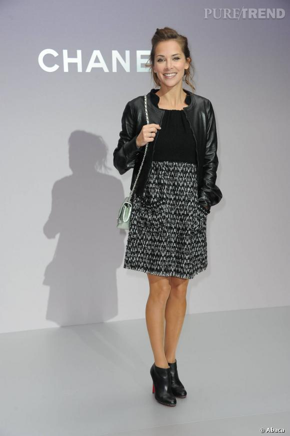Rock et baby doll, Melissa Theuriau a du style.