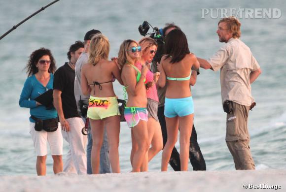 Jolie brochette de filles sur le tournage du prochain film d'Harmony Korine.