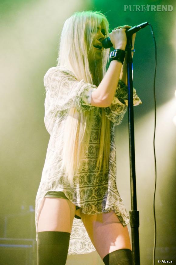 Taylor Momsen lors de son concert à Hollywood.