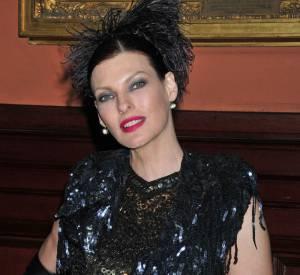 Linda Evangelista au gala du lycée français de la mode à New York.