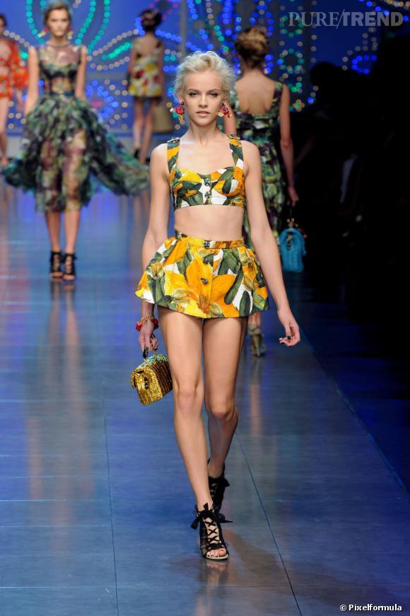 Défilé Dolce & Gabbana Printemps-Eté 2012.