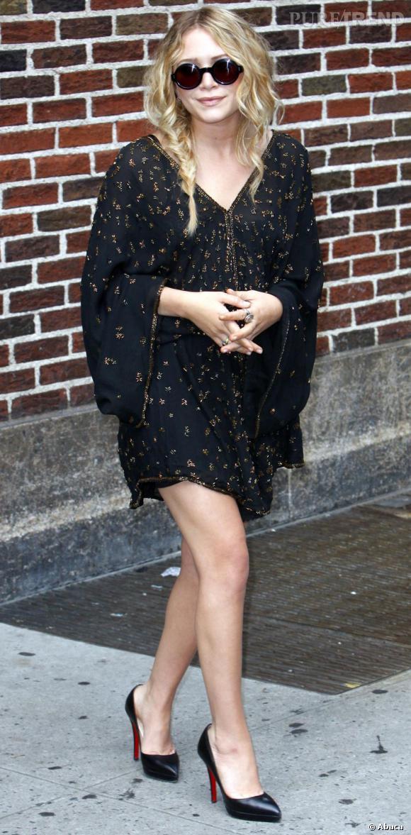 Mary-Kate Olsen continue ses apparitions tendance en re-flirtant légèrement avec le bohème.