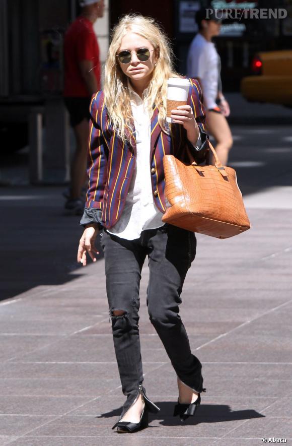 Mary-Kate Olsen, grunge, chic et... Accro à ses propres créations : les sacs The Row.