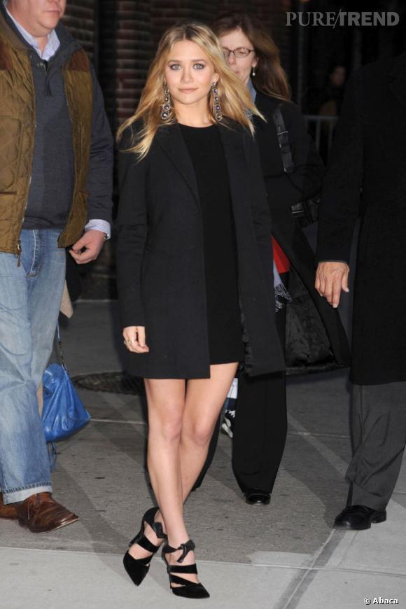 Ashley Olsen quant à elle toujours la même année choisit un look working girl pour se donner plus de crédibilité. Pari réussi.