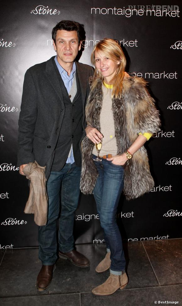 Marc lavoine et sa compagne sarah qui porte des bijoux - Marc et sarah lavoine ...