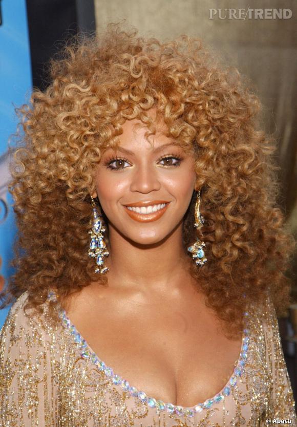 Beyoncé, ses cheveux au naturel.