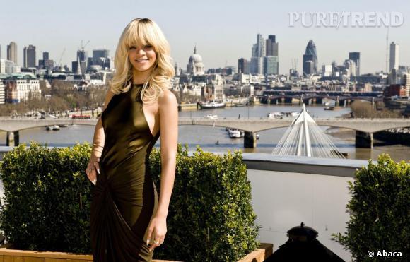 """Rihanna lors du photocall londonien de """"Battleship""""."""