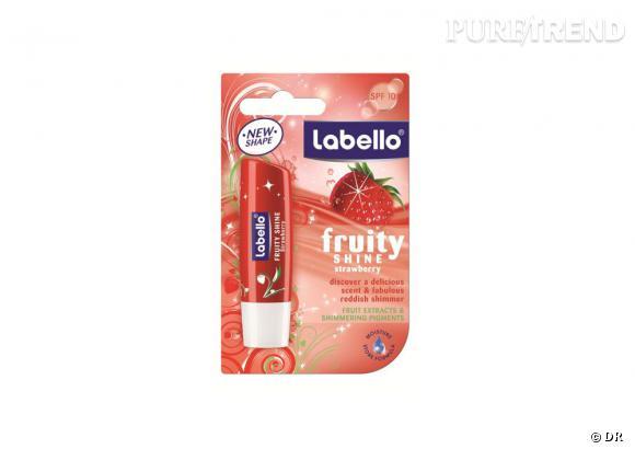 Shopping beauté : comme une envie de fraise...     Stick Fruity Shine Strawberry, Labello, 2,25 euros