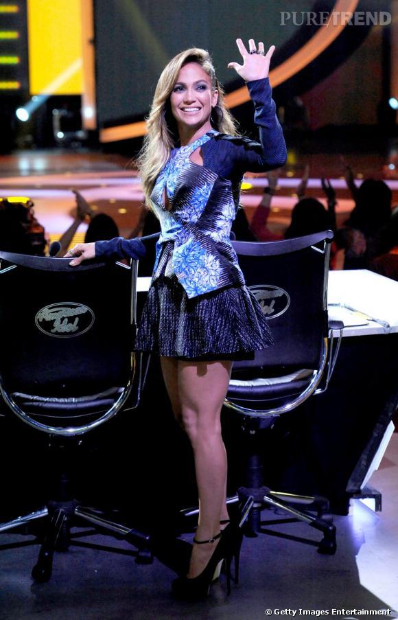 Jennifer Lopez sur le plateau d'American Idol.