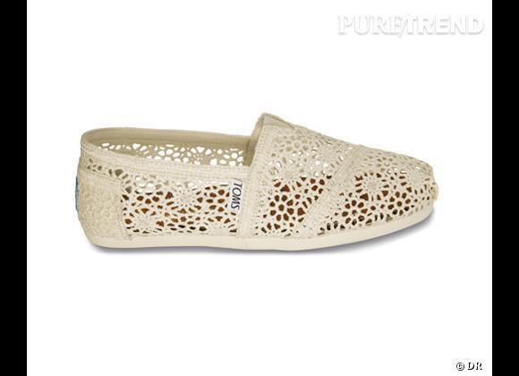 Toms Shoes Classics en crochet, 65 €.