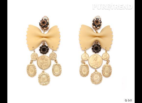 Focus tendance food obsession : le bon shopping    Boucles d'oreilles Dolce & Gabbana, prix sur demande