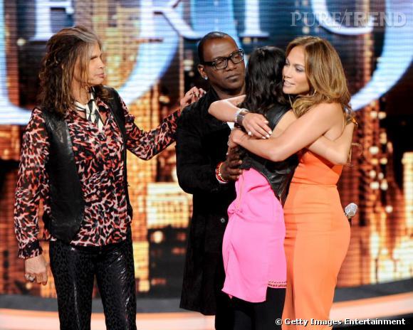 """Jennifer Lopez sur le plateau de """"American Idol""""."""