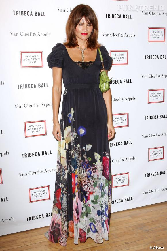 Helena Christensen au Tribeca Ball de l'Académie des Arts de New York.