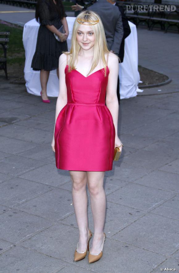 Dakota Fanning à la soirée Vanity Fair à New York mardi dernier.