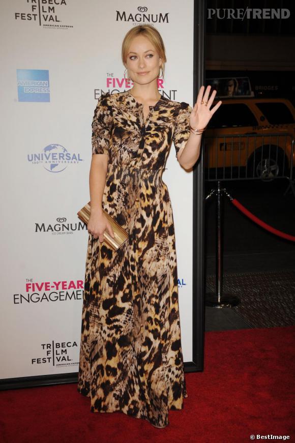 """Olivia Wilde lors de l'avant-première du film """"The Five Year Engagement"""" au Festival de Tribeca à New York."""