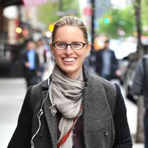 Karolina Kurkova dans les rues de Tribeca à New York.