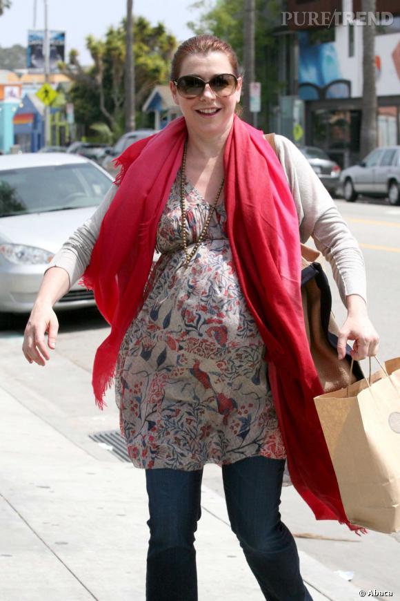 Alyson Hannigan, sortie en famille à Los Angeles.