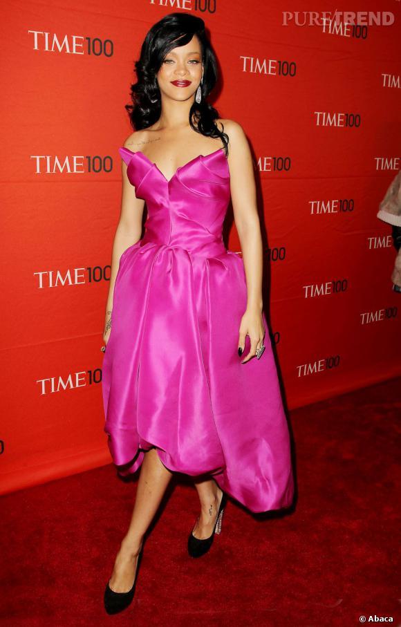 Rihanna célèbre la sortie du Time 100 lors d'une soirée organisée au Lincoln Center de New York.