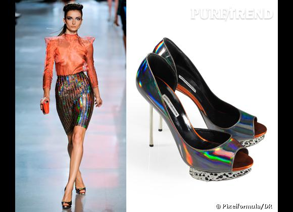 It-shoes : les must have des podiums Printemps-Eté 2012    Défilé Paco Rabanne   Escarpins Nicholas Kirkwood