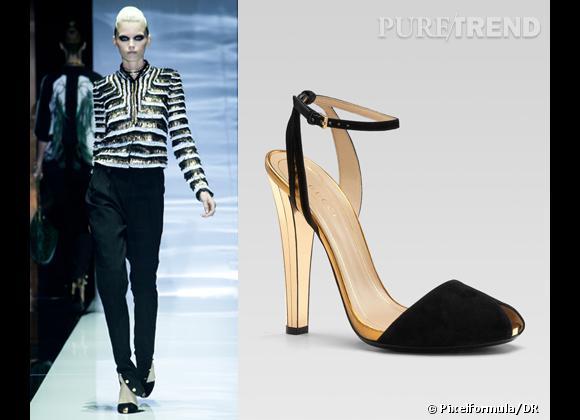 It-shoes : les must have des podiums Printemps-Eté 2012    Défilé Gucci   Sandales Gucci, 650 €