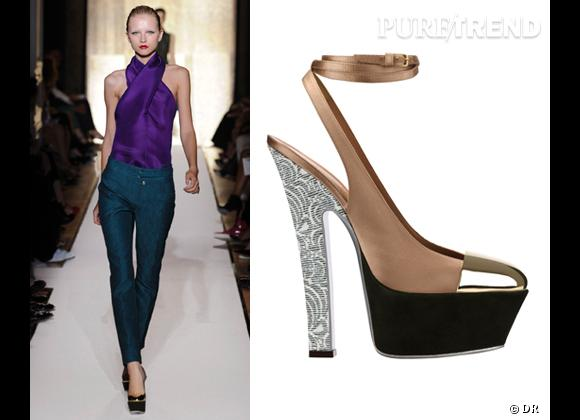 It-shoes : les must have des podiums Printemps-Eté 2012    Défilé Yves Saint Laurent   Escarpins Yves Saint Laurent, 925 €