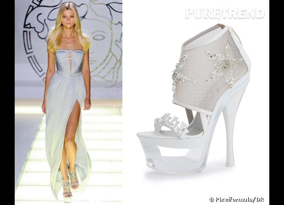 It-shoes : les must have des podiums Printemps-Eté 2012    Défilé Versace   Sandales Versace, 1600 €