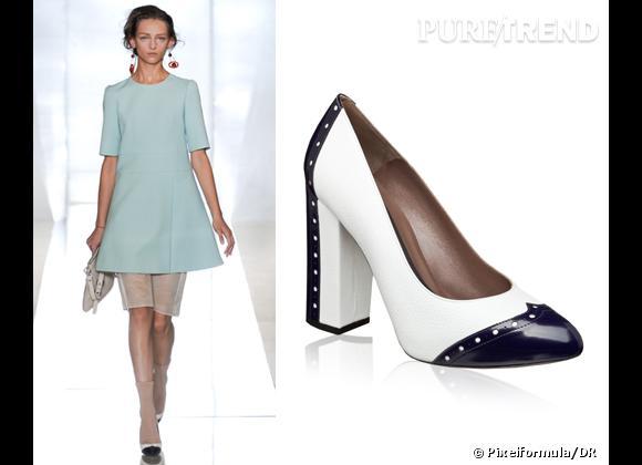 It-shoes : les must have des podiums Printemps-Eté 2012    Défilé Marni   Escarpins Marni, 460 €