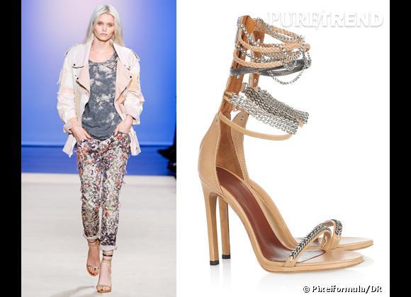 It-shoes : les must have des podiums Printemps-Eté 2012    Défilé Isabel Marant   Sandales Isabel Marant, 495 €