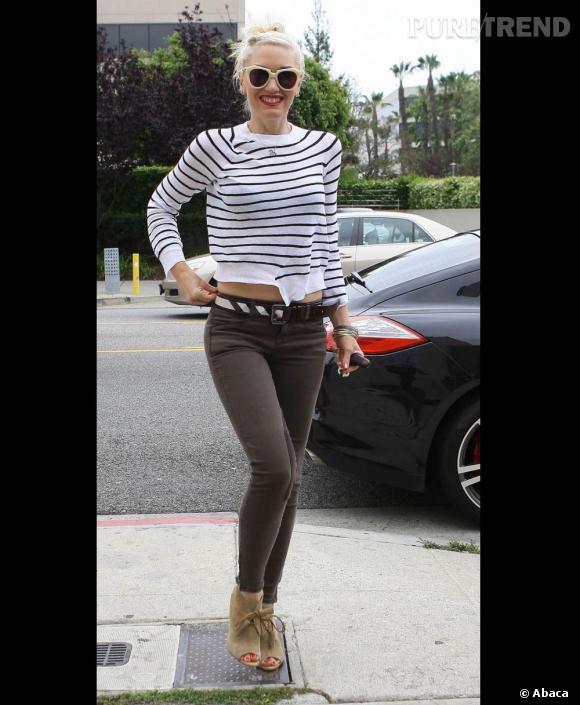 Gwen Stefani arrive dans un studio d'enregistrement de Santa Monica.