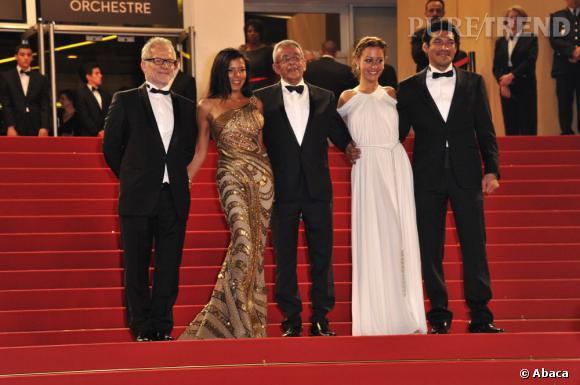 L'équipe du film d'Après la Bataille prend la pose.