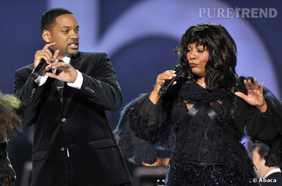 En 2009 :  Donna Summer et le Prince de Bel Air Will Smith se retrouvent sur scène, la diva est toujours aussi déchainée.