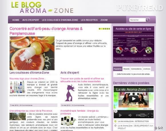Le site :  Le blog Aroma-Zone   Le site spécialisé dans le conseil et la vente d'huiles essentielles et de cosmétiques bio a lancé son blog. On y trouve des idées de recettes pour faire soi-même sa crème hydratante ou son soin minceur, des infos sur les nouveautés Aroma-Zone et des conseils d'experts pour prendre soin de sa peau et de ses cheveux.    blog.aroma-zone.com