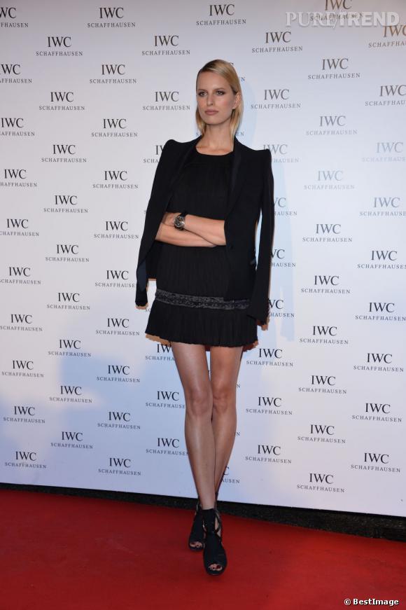 Karolina Kurkova lors d'un photocall pour la soirée IWC Filmmakers Diners à l'Eden Roc le 21 mai.