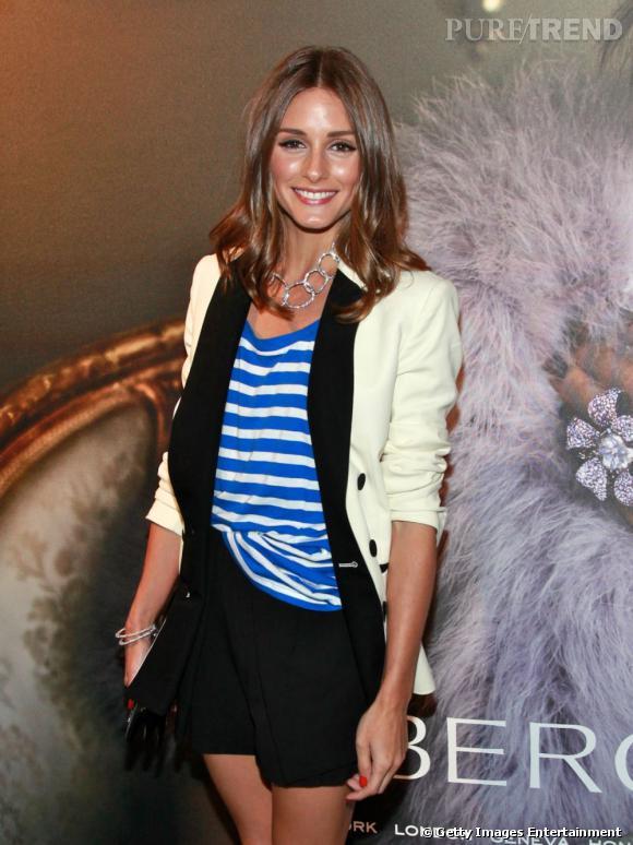 Olivia Palermo s'impose comme prodige du style à l'ouverture d'une boutique Fabergé à New York.