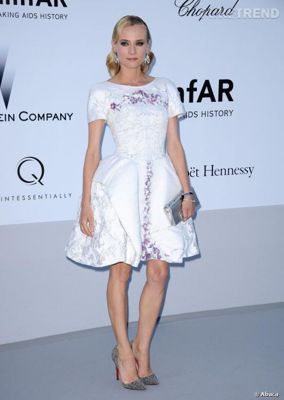 Diane Kruger, la figure mode la plus tendance de la semaine. Ici en robe Chanel Resort 2013.