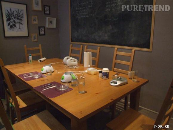 """L'atelier s'organise dans un décor """"comme à la maison"""" assez cosy et chaleureux."""