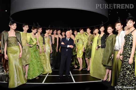 Défilé Giorgio Armani à Beijing.