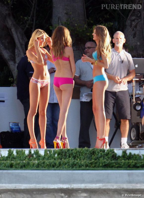 En ayant fait ses classes chez Victoria's Secret, Behati porte le maillot comme personne.